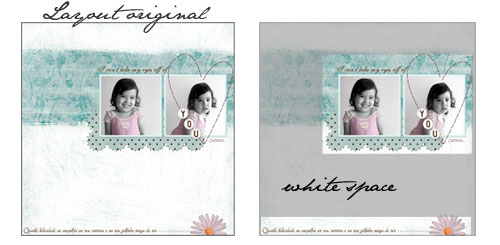 White Space in Scrapbooking
