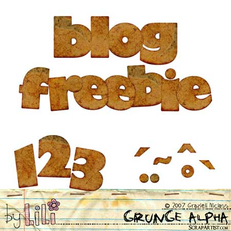 Grunge Alpha - Blog Freebie - Designs by Lili